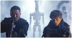 Father and Son - John Connor (Christian Bale) and Kyle Reese (Anton Yelchin)