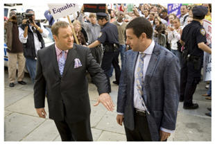 Adam Sandler and Kevin James as Chuck and Larry