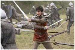 King Edmund Pevensie in battle