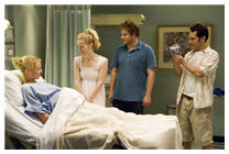 Katherine Heigl, Leslie Mann, Seth Rogen and Paul Rudd in Knocked Up