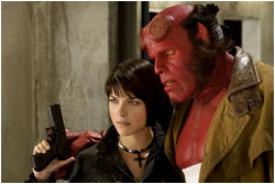 Liz and Hellboy - Selma Blair and Ron Perlman