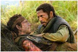 Robert Downey Jr. and Ben Stiller in TROPIC THUNDER